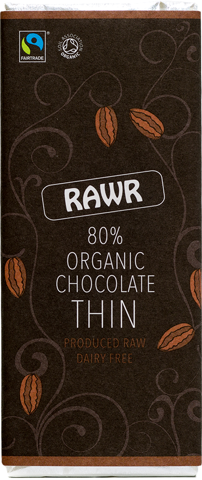 80% Organic Chocolate THIN (30g)