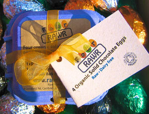Rawr Organic Raw Chocolate Solid Easter Eggs