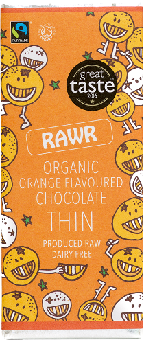 Organic Orange Flavoured Chocolate THIN (30g)